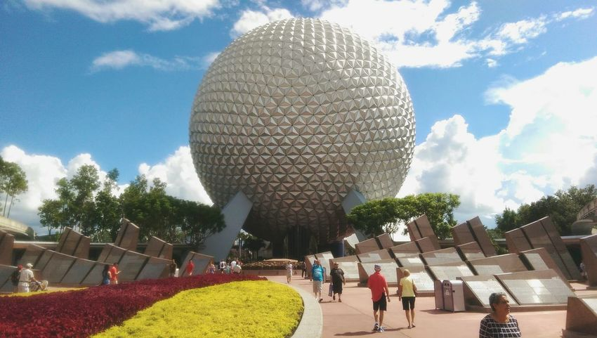 Epcot Epcot Disney World WDW Epcot Disney World Spaceship Earth Sky Florida USA Tourism Built Structure Travel Outdoors Travel Destinations