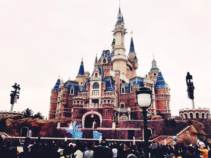 Architecture Disney Disneyland Shanghai Castle