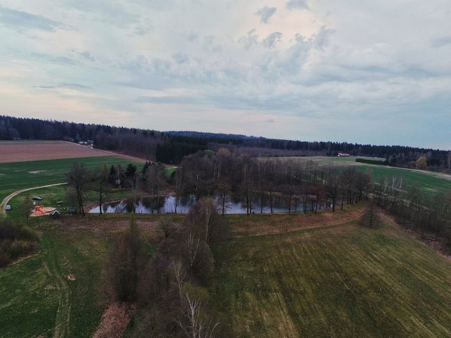 Growth Sky Rural Scene Cloud - Sky Nature Agriculture No People Outdoors Sport Tree Day Drone  Lake Pond