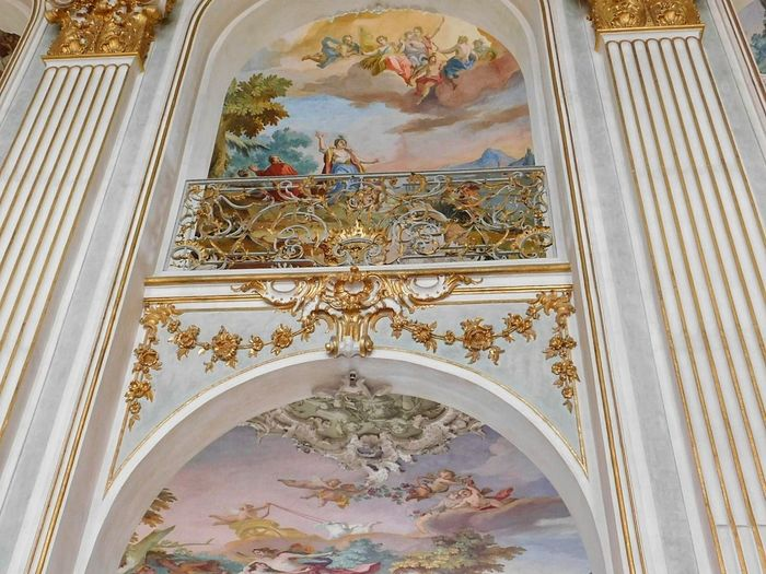 Architecture Religion Fresco Arch History Built Structure Place Of Worship Travel Destinations Spirituality No People Day Indoors  Indoors  Architecture Beauty Castle Gold Arts Culture And Entertainment Decorated Golden Palace Of Fine Arts Unbeliveable Nikonl840 Rich Castle Walls