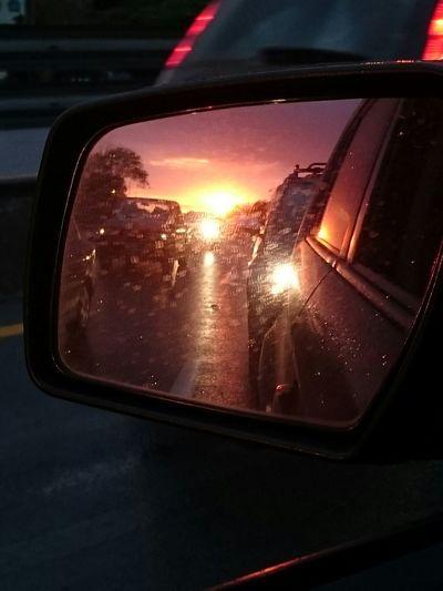 Sunset Skyporn Retrovisor Driving Ecuador Sony Xperia Z3 Sun Live Colors
