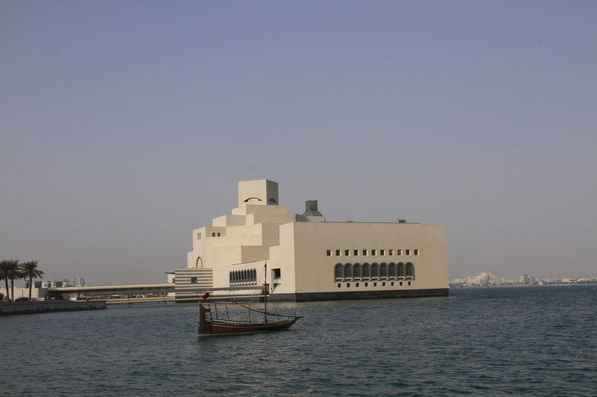 Architecture Building Exterior Built Structure Clear Sky Copy Space Day Mia Park Ministry Of Interior Nature Nautical Vessel No People Outdoors Qatar Sea Sky Transportation Water Waterfront