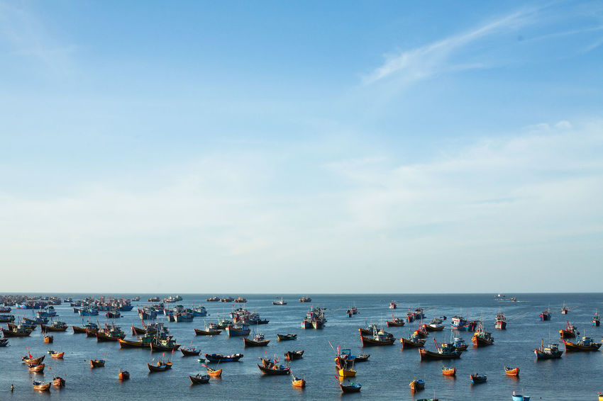 Phan Thiet Beach, Viet Nam Beach Photography Canon5Dmk3 Phan Thiet Skyline Vietnam Beauty In Nature Boat Canon50mm Day Horizon Over Water Landscape Minimal Nature Outdoors Sea Sky Travels Water Adventures In The City