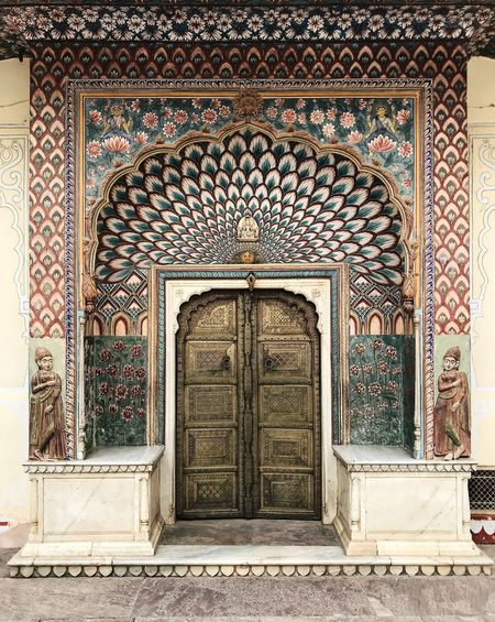 India Travel Photography Arch Architecture Art And Craft Building Building Exterior Built Structure Craft Creativity Day Design Door Entrance Floral Pattern Gateway History Incredible India Lotus No People Ornate Pattern Rajasthan Religion Travel Destinations