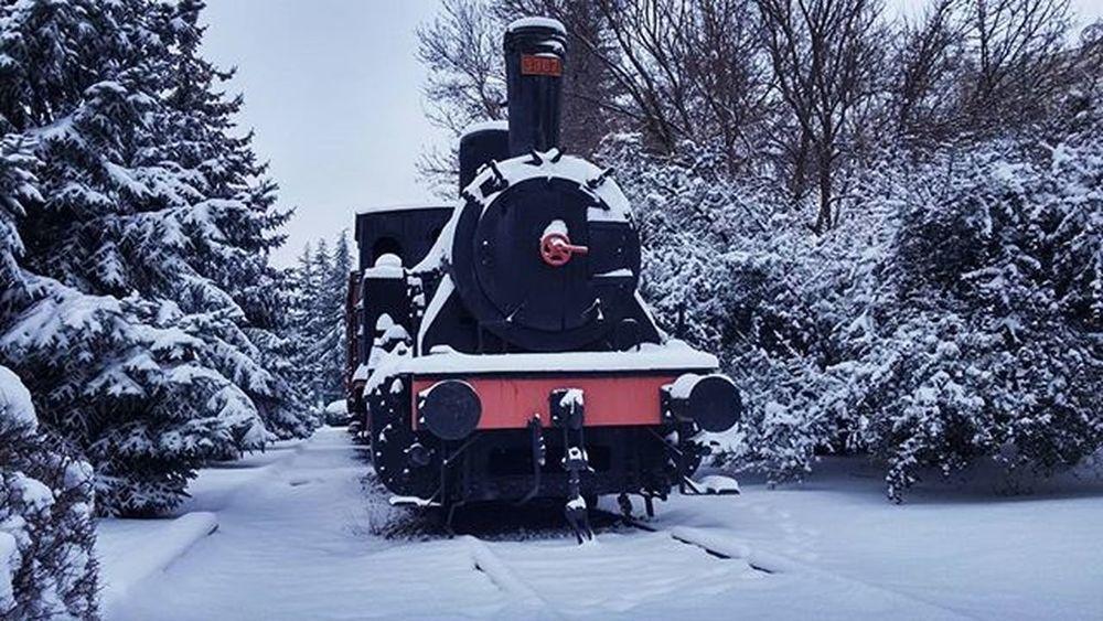 kara tren kara batmış Tren Train Snow Winter Kar Kış View Nature Karatren Lasttrain Tree Kampus