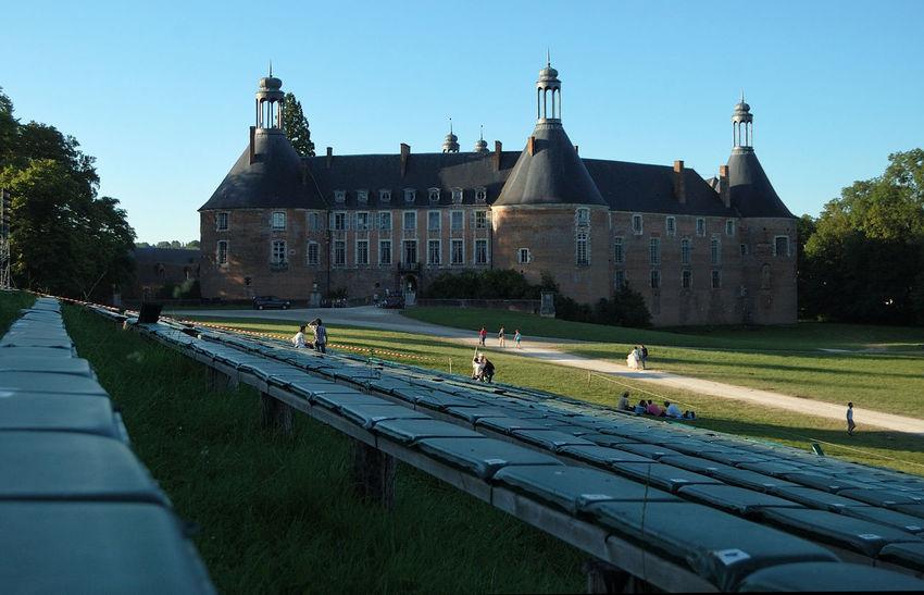 Castle Château Façade Gradins Grass History Outdoors Parc Puisaye Saint-fargeau Sky Spectacle Tourism Yonne