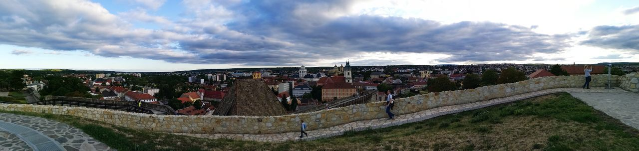 Walk in the castle Castle Eger, Hungary City Stadium Panoramic Sky Architecture Cloud - Sky