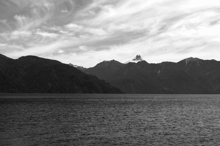 Beauty In Nature Chile Day Lake Landscape Mountain Mountain Range Nature No People Outdoors Puerto Montt Puerto Montt,Vulcano Scenics Sky Tranquil Scene Tranquility Vulcano Water The Week On EyeEm Lost In The Landscape Perspectives On Nature Black And White Friday An Eye For Travel The Traveler - 2018 EyeEm Awards The Great Outdoors - 2018 EyeEm Awards