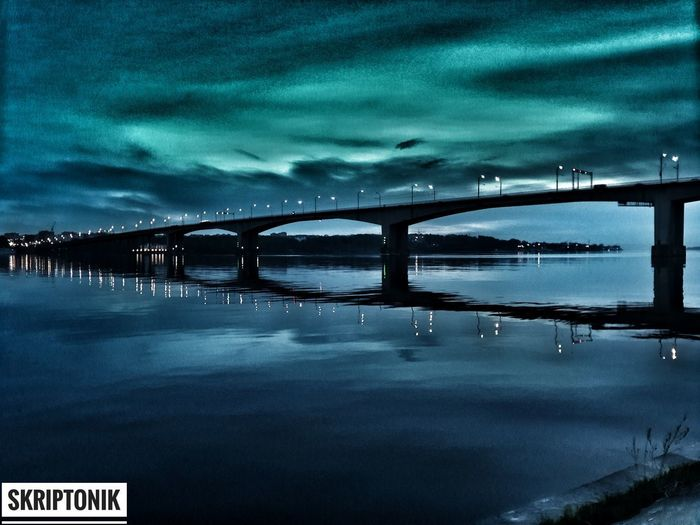 Night Illuminated No People Bridge - Man Made Structure Outdoors Built Structure Water Architecture Sea Sky Nature City