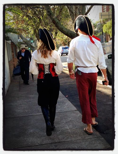 Pirots on patrol in the Sydney suburb of Woollahra Fashion Hats