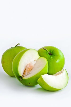 Close-up Food Food And Drink Freshness Fruit Green Color Healthy Eating Isolated Monkey Apple No People Studio Studio Shot White Background