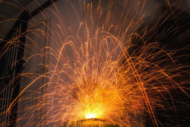 Sparks Burst...