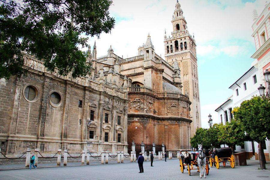 Hot crib. Cool ride. Historical Building Sevilla Walking Around Ancient Building