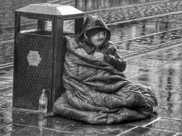This guy just sitting in the Rain asking for money what some people have to do Picturing Individuality Eye4photography  See The World Through My Eyes EyeEmBestPicsCheck This Out B&w Street Photography Portrait My Perspective EyeEm Black&white! Monochrome _ Collection Hdr_Collection Black And White Photography Blackandwhite B&W Portrait HDR Homeless Showcase: November Streetphotography Streetphoto_bw Popular Photos People Of Manchester Welcome Weekly Human Condition Street Photography - EyeEm Awards 2016 Telling Stories Differently Homeless Of Manchester Uk