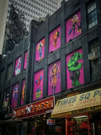 Midtown Comics, Times Square Area, NYC Comics Marvel Dccomics AMPt - Street Urbexphotography Streetphotography Urbanphotography Façade Tones Storefront Road Trip Vacation Manhattan Hulk Text Low Angle View Built Structure Building Exterior Multi Colored Architecture Communication Illuminated Day Outdoors City Neon No People