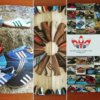 """Thanks to @aoatop5 for Adidas only addiction """"the story so far"""" what a present for X-mas this is!! Aoatop5 Adidasaddict Teamtrefoil Trefoilonmyfeet Adidasonly Thebrandwiththreestripes Thebluebox"""