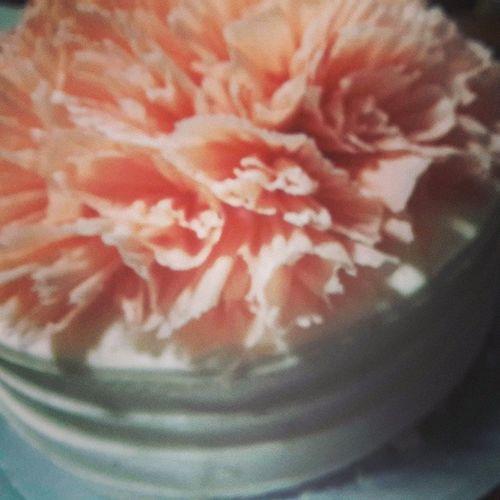 케이크 생일축하 셋째누나 플라워 후앙onelove