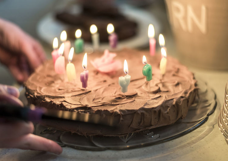 Birthday Birthday Cake Birthday Candles Burning Cake Candle Celebration Dessert Flame Food Food And Drink Freshness High Angle View Human Body Part Human Hand Indoors  Indulgence Life Events One Person Real People Selective Focus Sweet Food Temptation Text Unhealthy Eating