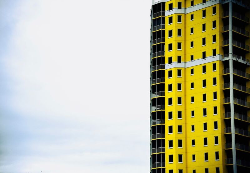 High rise Bright Architectural Feature Minimalist Architecture Minimalobsession Minimalism Clouds Clouds And Sky Yellow EyeEm Selects EyeEm Gallery Architecture_collection Architecture Architecture Building Exterior Built Structure Low Angle View No People Modern Skyscraper Outdoors Day City Sky The Graphic City Colour Your Horizn