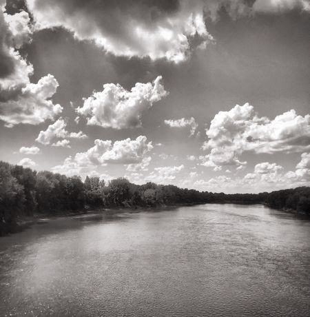 Wabash River in Indiana River View Blackandwhite Indiana Wabash River Cloud - Sky Sky Tranquility Tranquil Scene Beauty In Nature Water Scenics - Nature Nature Outdoors Environment Landscape Day Land No People