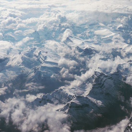 Canadian mountains Environment Aerial View Nature Scenics - Nature Landscape Beauty In Nature No People Cold Temperature Winter Water Outdoors Day Snow Air Vehicle Land Tranquil Scene Cloud - Sky Tranquility Airplane EyeEmNewHere