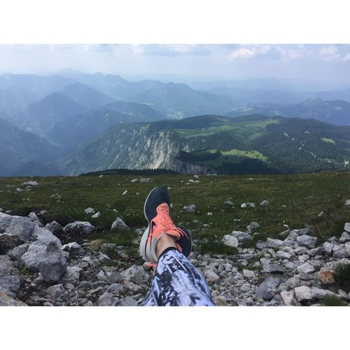 Schneeberg, Austria Adventure Backpack Beauty In Nature Day Hiking Klosterwappen Landscape Leisure Activity Lifestyles Low Section Mountain Mountain Range Nature One Person Outdoors People Real People Scenics Schneeberg Sky Standing Tranquility