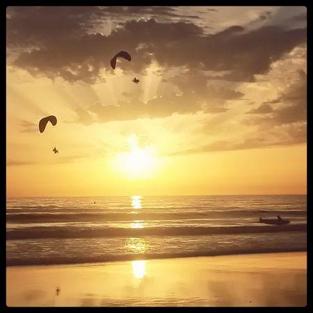 Hello World Enjoying Life Elpalmar Playadecadiz Sunset Landscapes