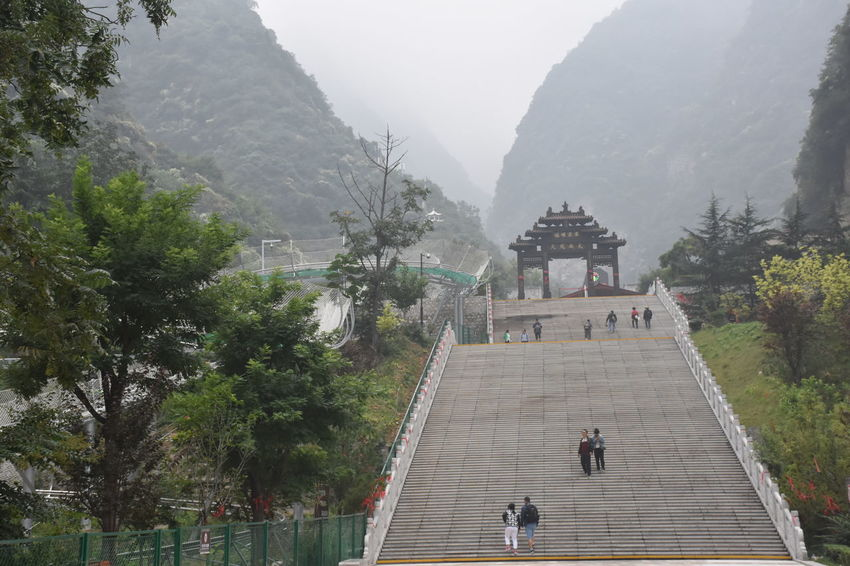 Huashan Mountain - Xi'an China Altitude Beautiful Beautiful Nature Cable Car Climbing Clouds High Huashan Mountain Mist Mountain Mountains Scenic Sky And Clouds Stairs Steps Tourist Attraction  Vacation