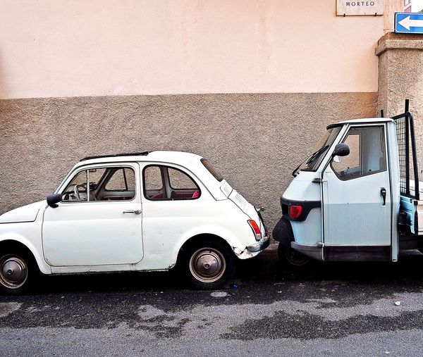 This is not a car - it's a Fiat 500 🚗💥 AND besides an ape 🐝 How lucky I was !! Asundaycarpic Classic Car Car Old Car Collector's Car Storytelling Fiat500 Ontheroad Roadtrip Travel Destinations Travel Photography Aerial View Soloparking Vintage Cars Streetphotography Streetphoto_color Scenics Cityscape City Life City Street Urban Eye4photography  EyeEm Selects Iconic Walking Around Taking Photos Transportation Wall Art Minimalism