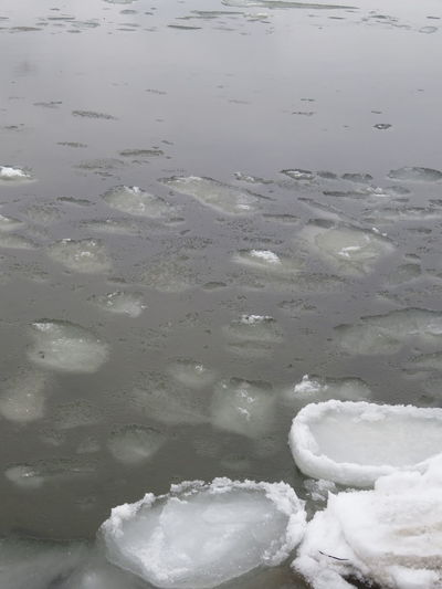 ice and water Outdoors Cold Temperature Water Cold Floating Ice Frost Brash Ice