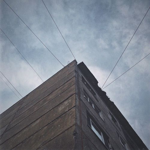Cable Sky Low Angle View Architecture No People Day Wood - Material Built Structure