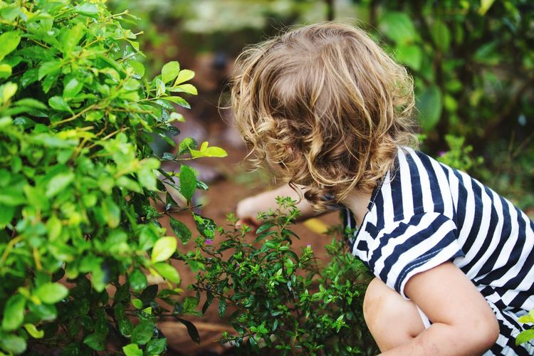 Playtime Playtime Girl Child Childhood Striped One Person Growth Nature Portrait Innocence Outdoors Casual Clothing