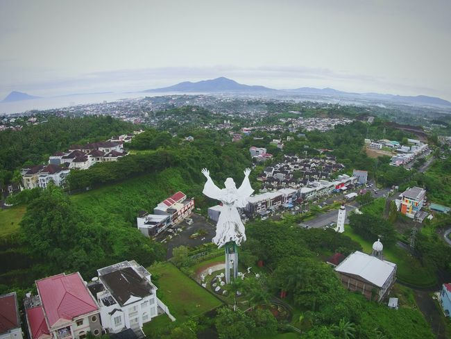 Jesus blessing Manado City DJI X Eyeem EyeEm Best Shots EyeEmNewHere EyeEm Selects Dronephotography Midrone Drone  Aerial View No People Day Outdoors Landscape Grass Nature Beauty In Nature An Eye For Travel