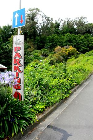 Walking Missions around Napier Parking Sign Up Hill Outdoors Direction Nature Greenery