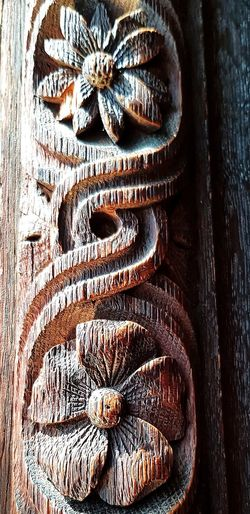 Walking Around Chatsworth House Full Frame Close-up Carving - Craft Product Wooden