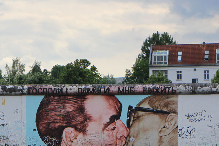 Mural on berlin wall