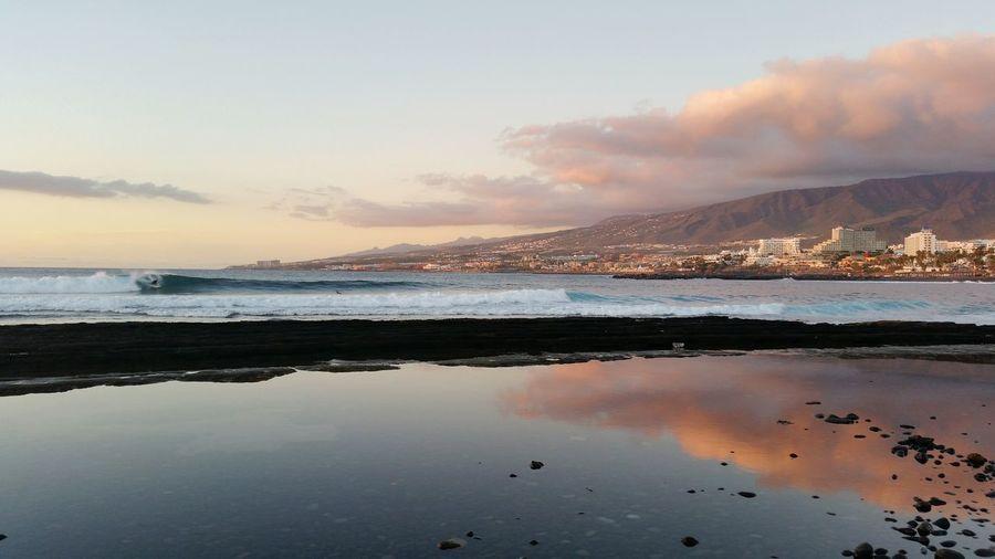 Sunset Reflection Sky Outdoors No People Las Américas, Tenerife