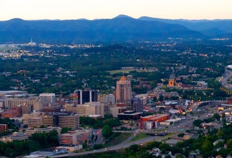 Home Town Roanoke City Evening Park Ledge Mountain Cityscape Outdoors Wide Shot Blue Skies Bestoftheday Eye4photography