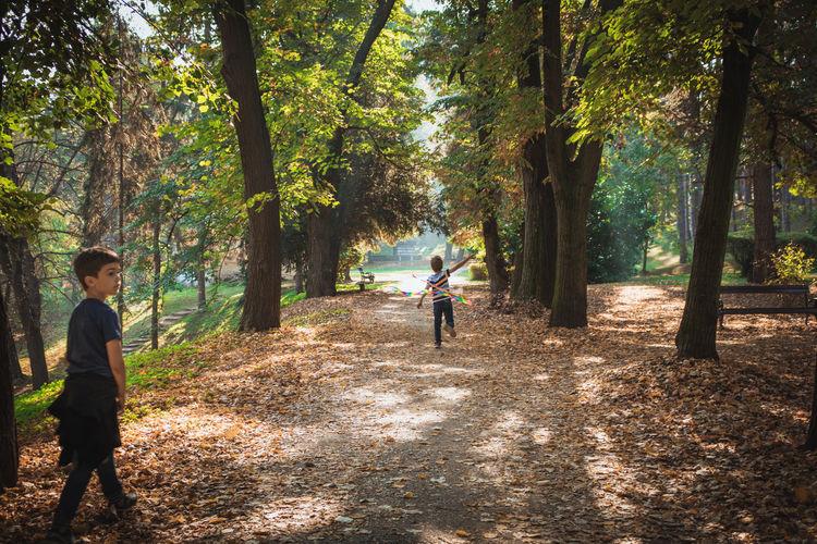 Boys in park