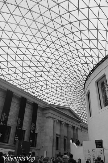 Took this photo in British museum. I just love the architecture and it is stunning in black and white. Architecture Travel Destinations Blackandwhite