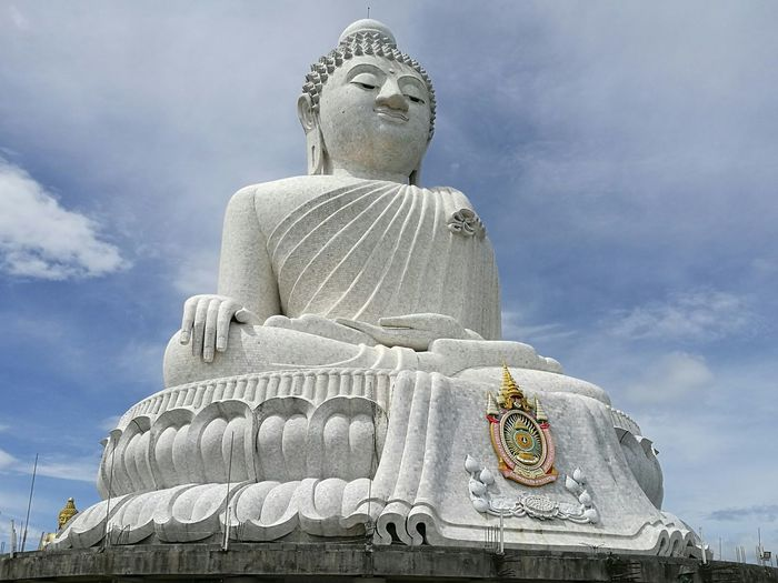 Big Buddha Temple Religion Place Of Worship Large Cloud - Sky Spirituality Lifestyles History Outdoors Sky Statue Large Group Of People Adults Only Day People Adult