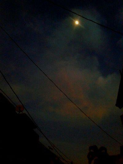 bulan kesiangan ... Moon Early Morning