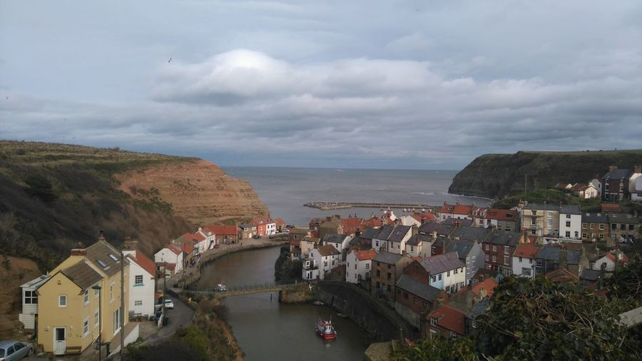 Staithes, England Houses Village Sea Sky No People Scenics Tranquility