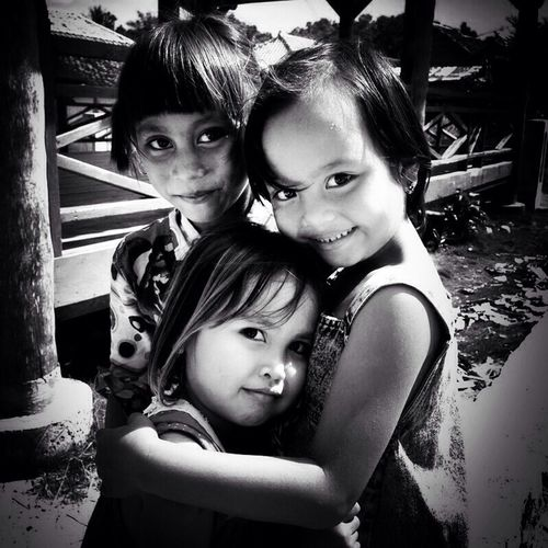 Village girls... Portrait Black And White Portrait Blackandwhite Black And White