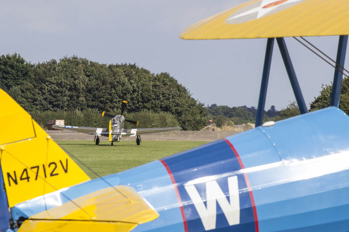 Air Vehicle Airfield Must Taxying Through Shot Warbird World War II Yellow
