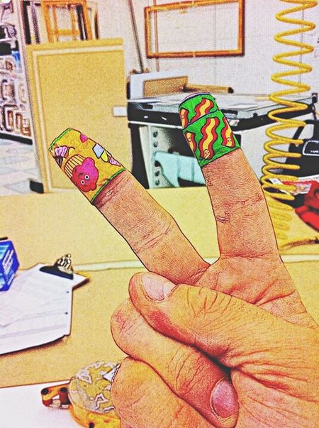 I have a booboo! Booboo Cut Finger Fingers Wound Wounded Accident Bandaid Plaster Plasters Bandaids Band Aid Cupcakes Cupcake Bacon! Fun Funny At Work At Work Again Blaaaaah That's Me! That's Me :) Oops Oops! Oopsies