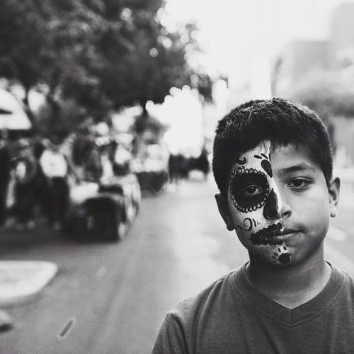 What fatherhood looks like on Dia De Los Muertos. Black And White EyeEmBestPics