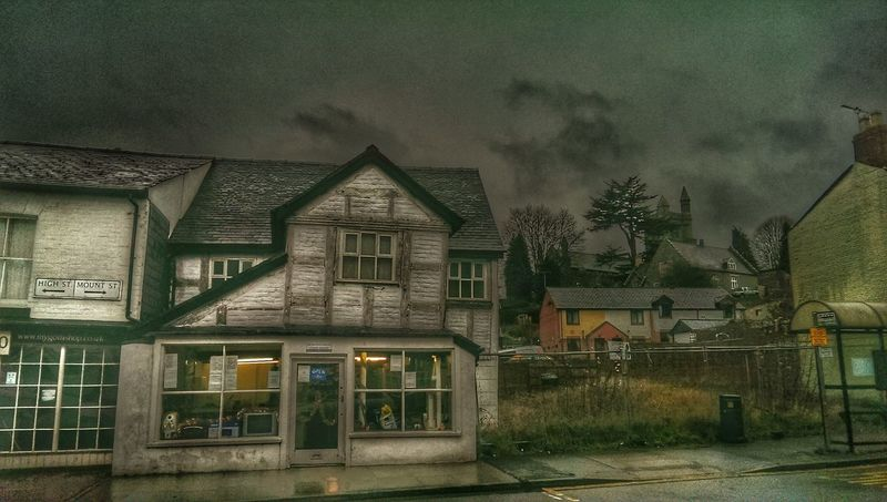 Old Buildings BuildingPorn Historic Building Rainy Days Welshpool Wales❤ Village Life Old Village 1800s Wood Sky And Clouds For My Friends That Connect