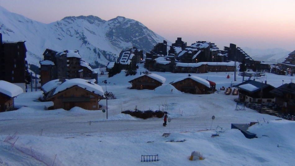 Avoriaz Connected By Travel France🇫🇷 Lost In The Landscape The Week On EyeEm Beauty In Nature Building Exterior Built Structure Cold Temperature Landscape Mountain Nature Outdoors Sky Snow Snowcapped Mountain Sunset Travel Destinations Weather Winter