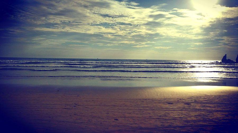Anjuna beach in